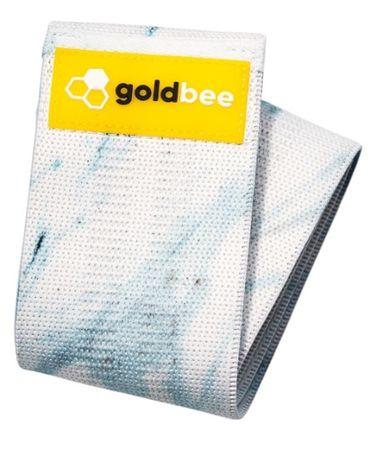 GoldBee Textilní odporová guma M modrá/mramorová střední odpor