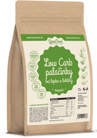 GreenFood Low Carb Palačinky bez lepku a laktózy kakao 500 g
