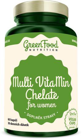 GreenFood Multi VitaMin Chelát pro ženy