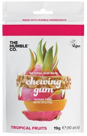 Humble Brush Žvýkačky bez cukru s xylitolem tropické ovoce 10 kusů (19 g)