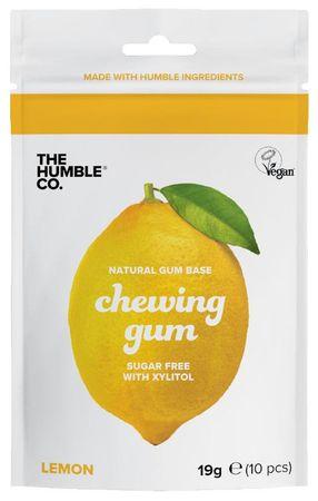 Humble Brush Žvýkačky bez cukru s xylitolem citron 10 kusů (19 g)