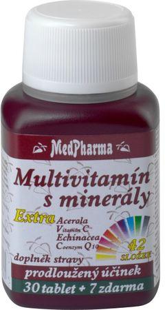 MedPharma Multivitamín s minerály + extra C