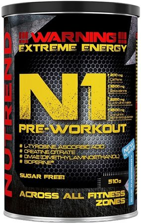 Nutrend N1 Pre-workout modrá malina 510 g