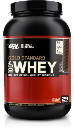 Optimum Nutrition Gold Standard 100% Whey Protein jahoda 900 g