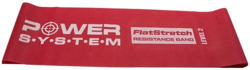 Power System posilovací pás FLAT STRETCH BAND 150 cm x 15 cm x 6,5 mm červená střední odpor