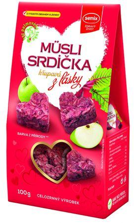 Semix Müsli srdíčka křupavá z lásky (jablko/skořice/kokos) 100 g