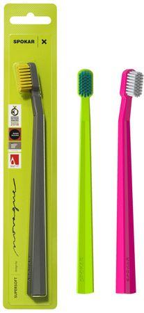 SPOKAR Zubní kartáček X supersoft 1 ks mix barev