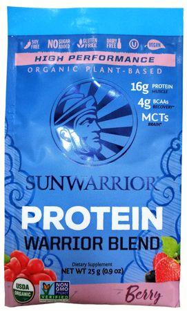 Sunwarrior Warrior Protein Blend BIO lesní ovoce 25 g