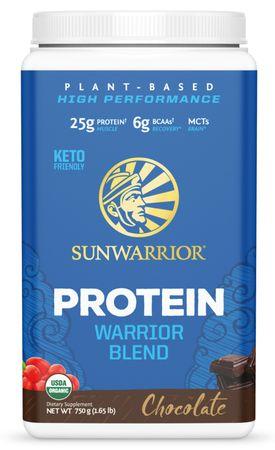 Sunwarrior Warrior Protein Blend BIO čokoláda 375 g