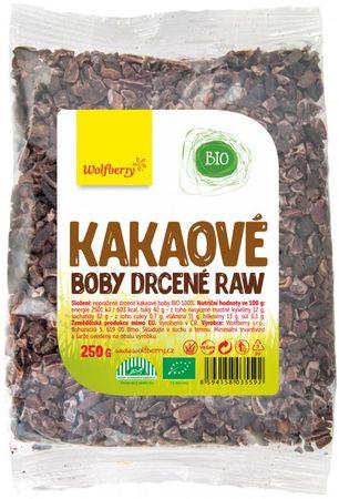 Wolfberry Kakaové boby drcené BIO