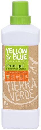 Yellow & Blue Prací gel z mýdlových ořechů 1000 ml pomerančová silice