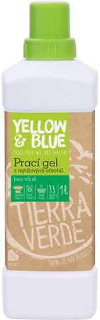 Yellow & Blue Prací gel z mýdlových ořechů 1000 ml bez parfemace