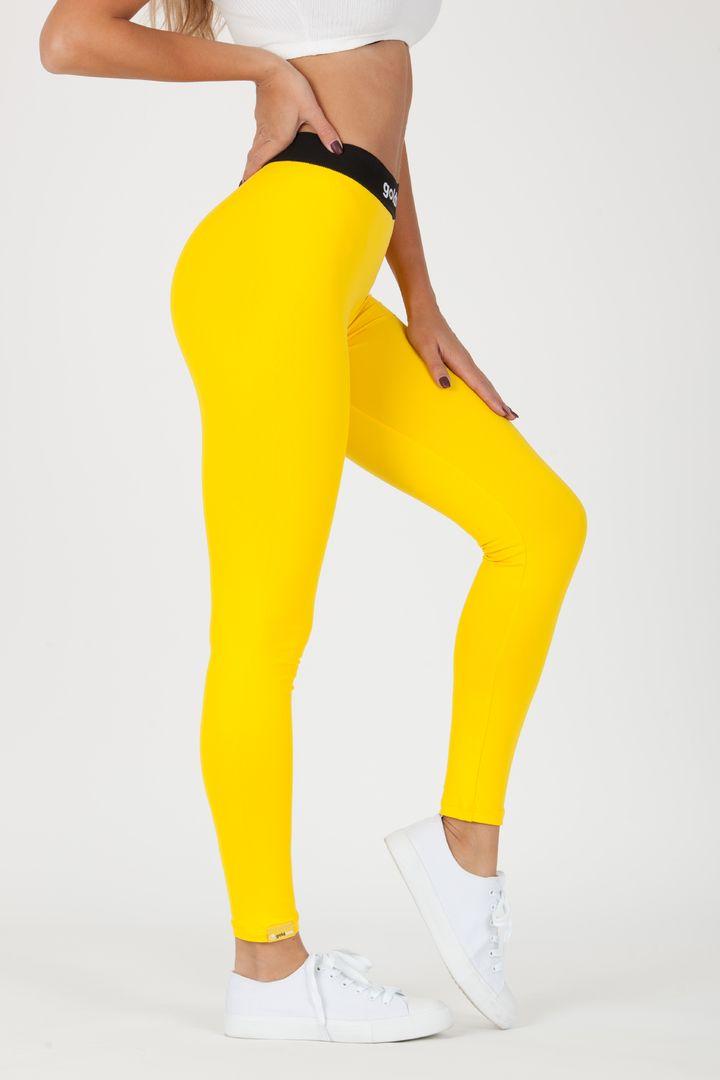 GoldBee legíny BeOneTwo XS žlutá