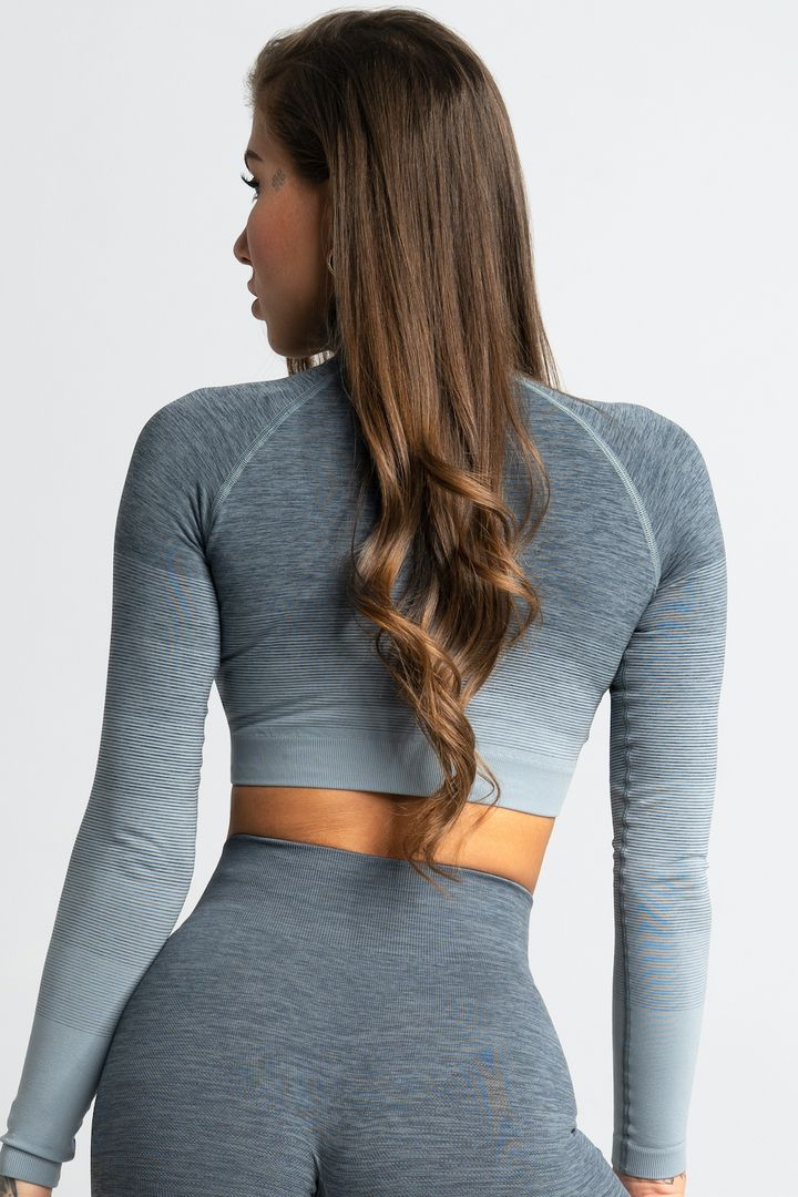Gym Glamour Crop-Top XS sea ombre