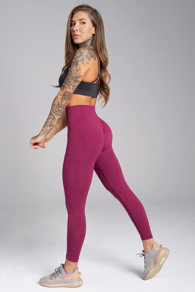 Gym Glamour legíny Seamless M jelly berry