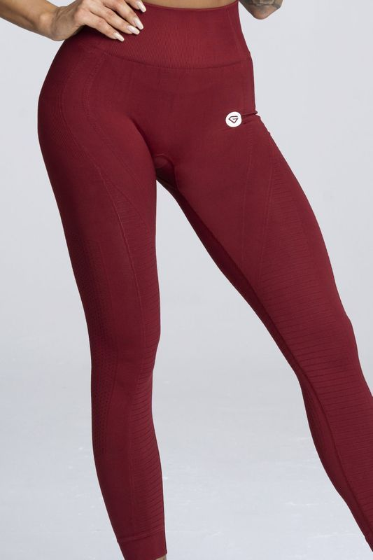 Gym Glamour legíny Seamless XS bordó
