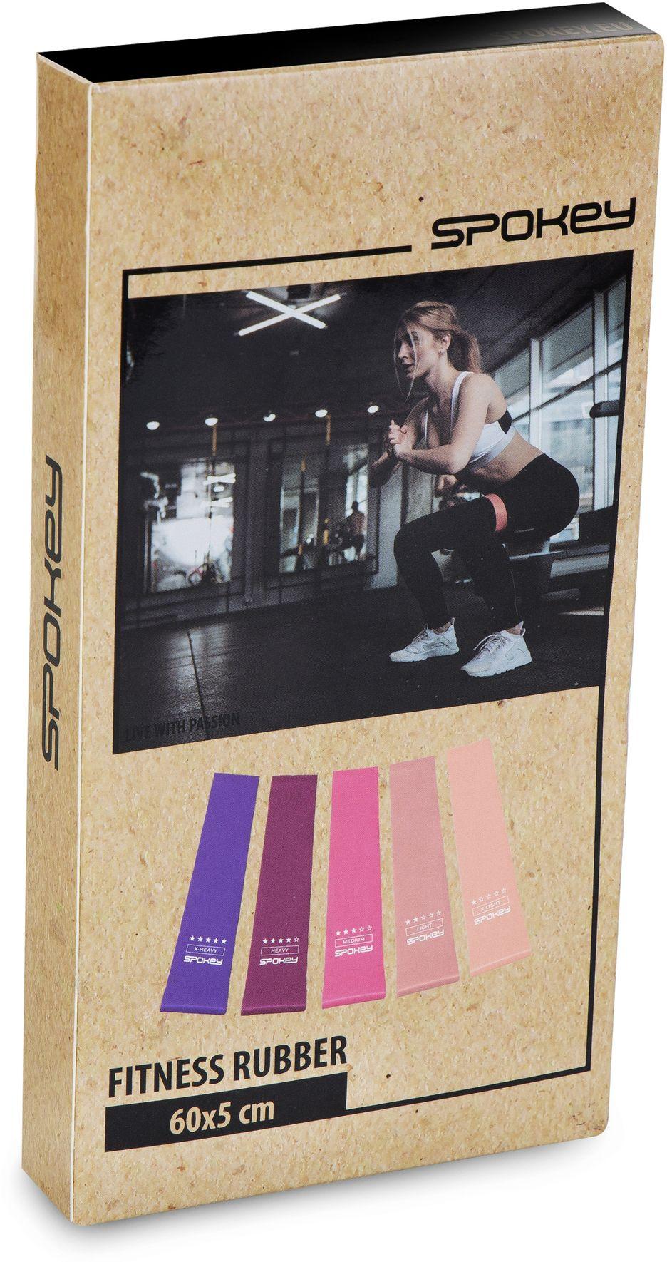 Spokey Sada fitness gum ARTIO 5 ks