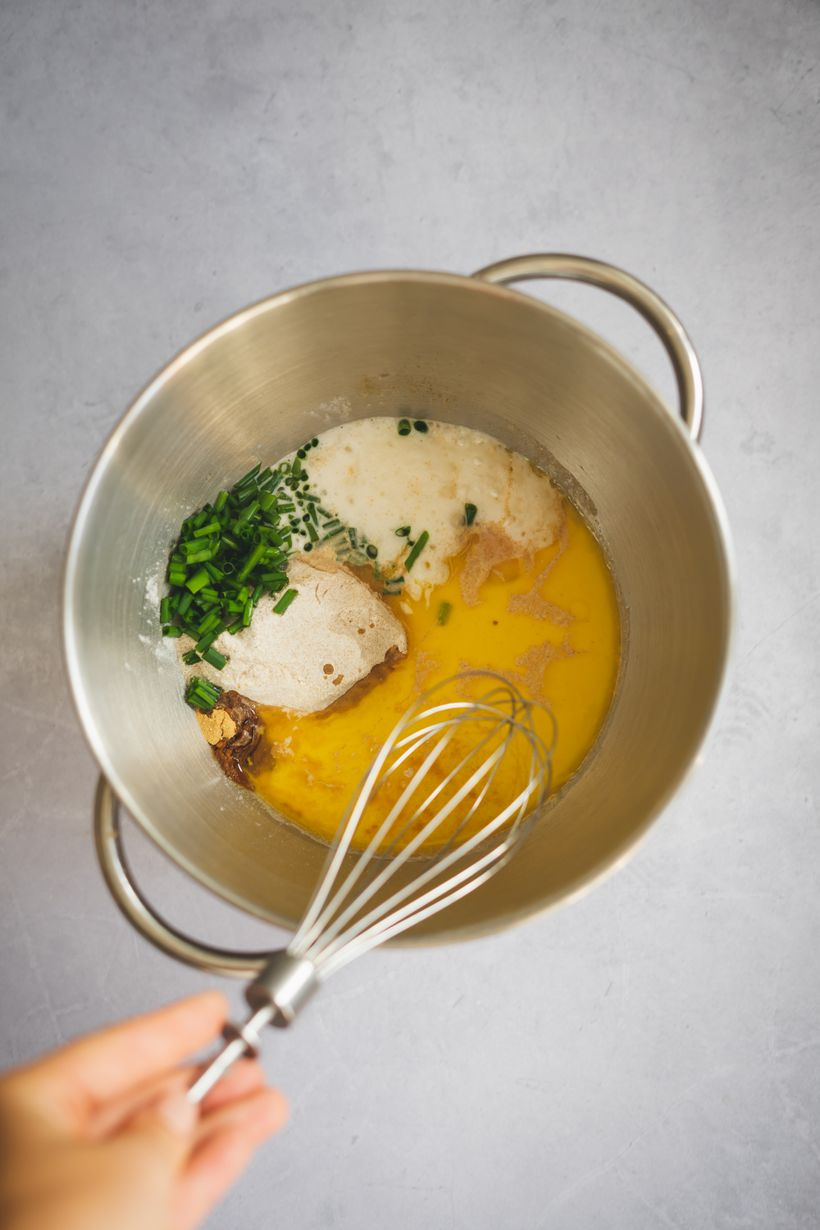 Slané vafle spažitkou aořechovým máslem