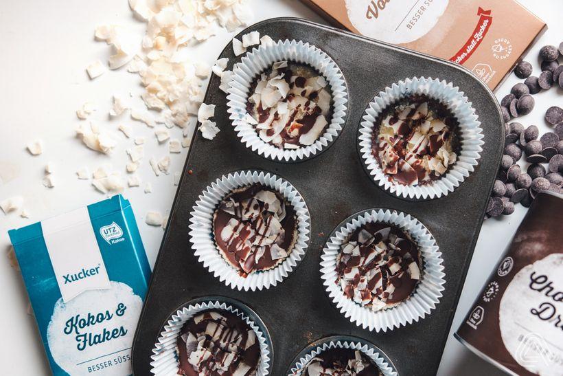 Vychutnej si spojení čokolády akokosu ve famózních košíčcích