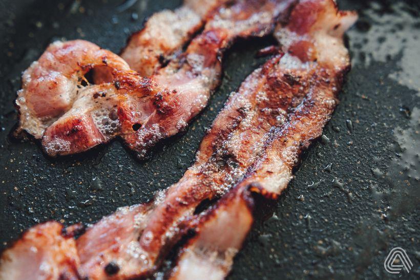 Fitness oběd do krabičky: Jednoduchý wrap se šunkou a slaninou