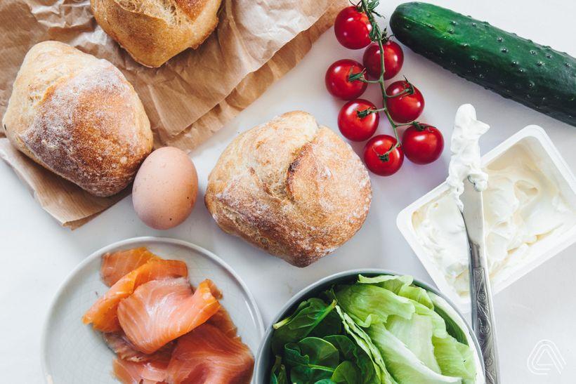 Fitness oběd do krabičky: Lahodný sandwich suzeným lososem