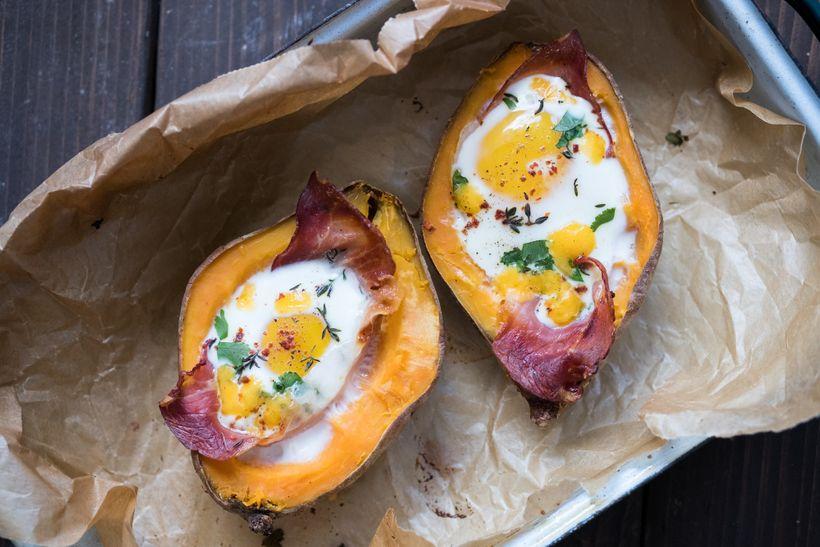 Tip na zdravou večeři: pečené batátové lodičky