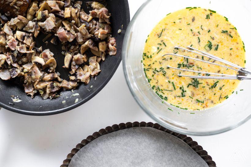 Slaný koláč na styl quiche nejen pro příznivce lowcarb