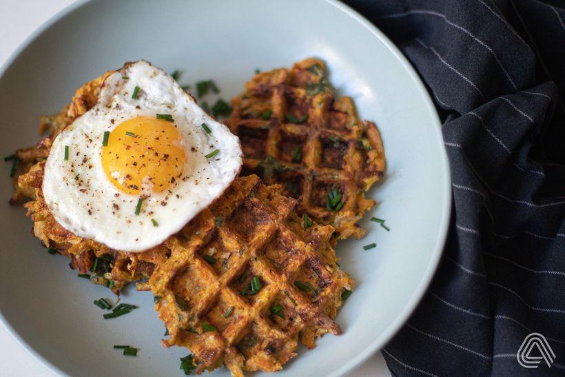 Křupavé batátové wafle – rychlá snídaně na celý týden
