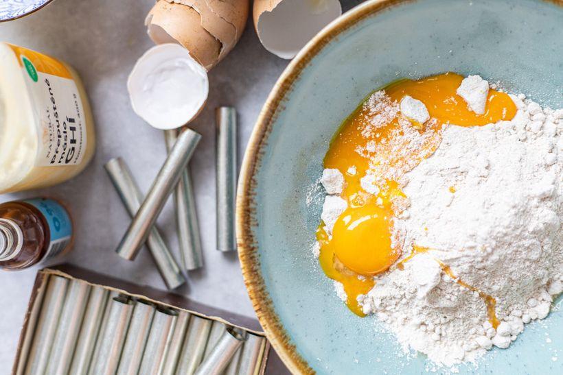 Vychutnejte si křehké kremrole plněné proteinovým pudinkem