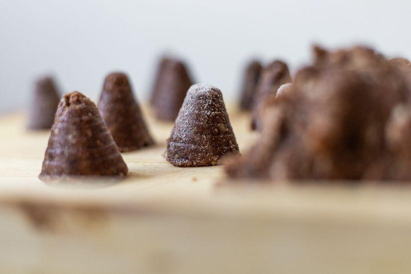Zdravé vánoční cukroví: Včelí úly sproteinovým pudinkem