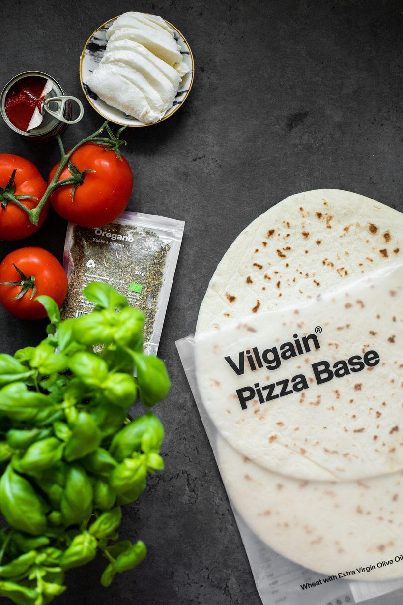 Zdravá pizza Margharieta hotová do 10 minut