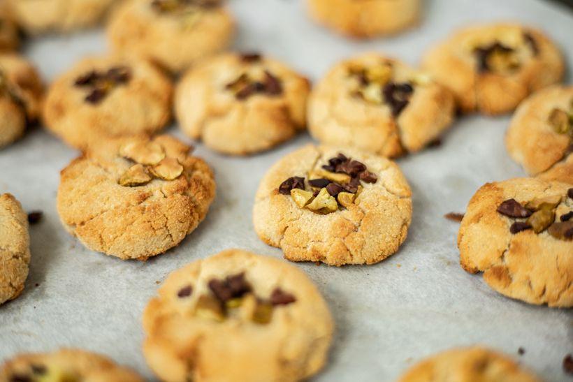 Zdravé sušenky jen z5 ingrediencí. Značka: vegan, gluten free