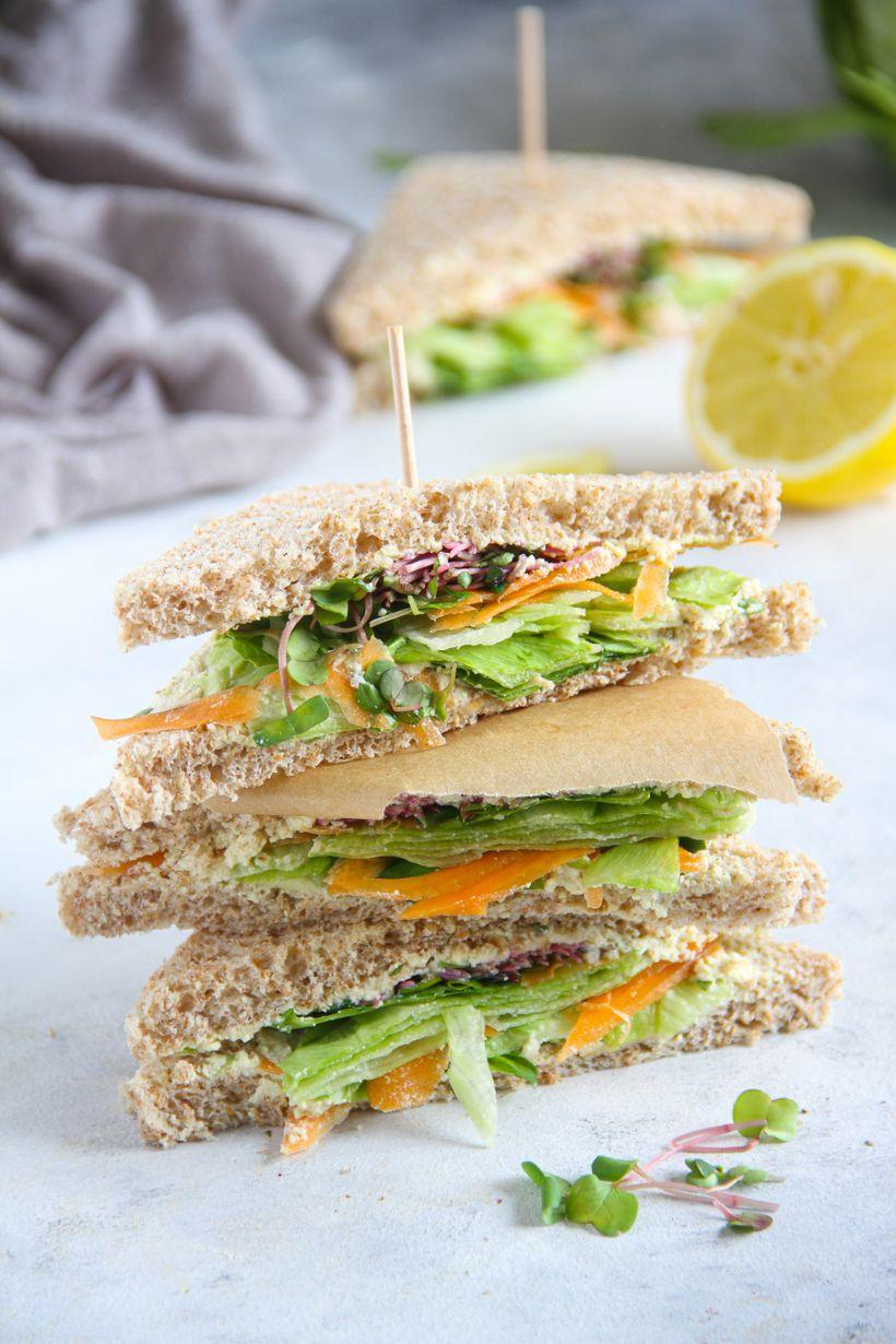 Rychlé sendviče stofu pomazánkou