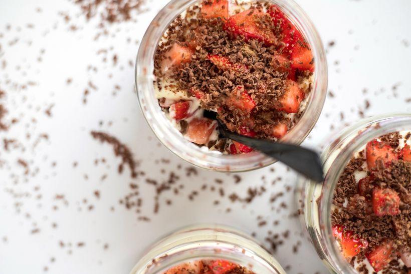 Bleskový tvarohový dezert do skleničky