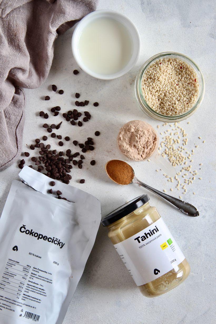 Čokoládové lanýže stahini