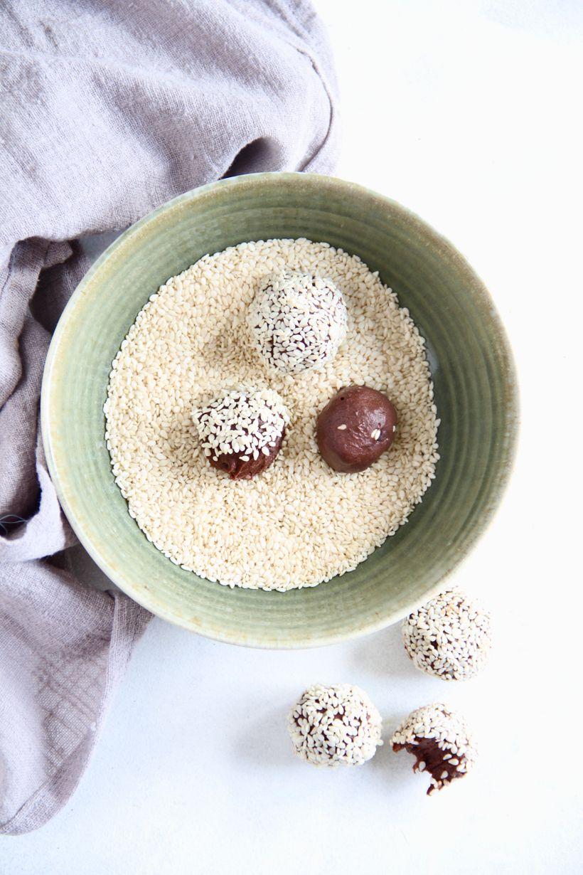 Čokoládové lanýže s tahini