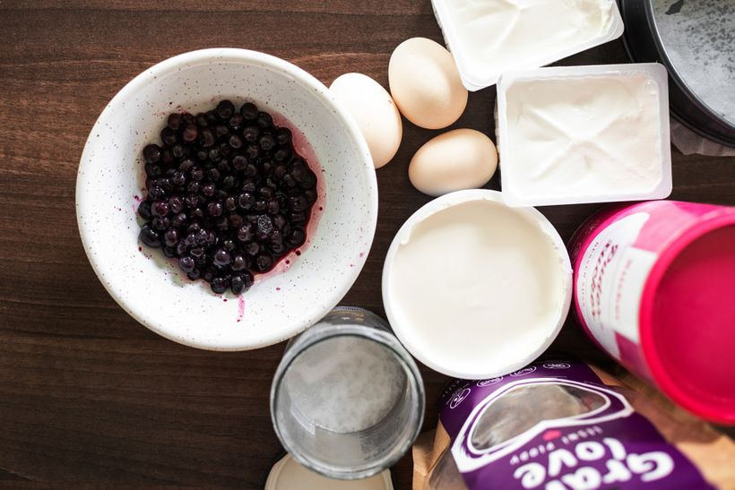Lahodný borůvkový cheesecake bez mouky apřidaného cukru