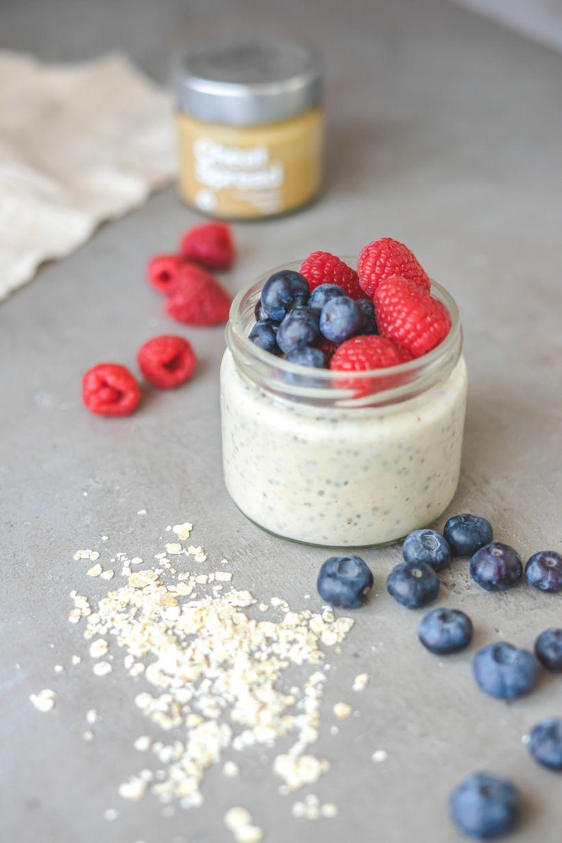 Proteinová overnight oats do skleničky