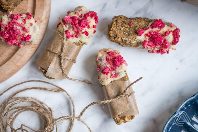Fit cukroví: Ořechové tyčinky s bílou čokoládou