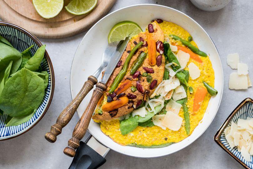 Vylaďte svoji omeletu na rychlé, levné a komplexní jídlo