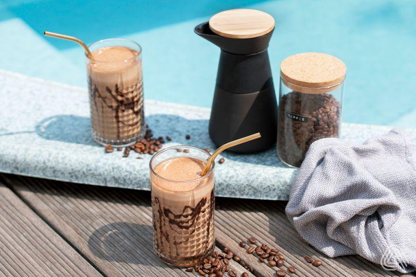 Ledová káva s proteinem