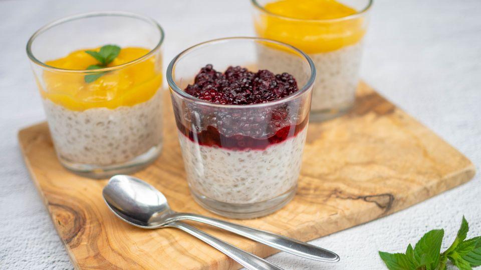 Tapiokový pudink s ovocným rozvarem