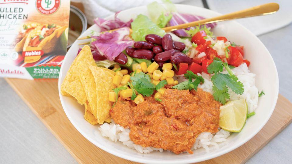 Mexico bowl s trhaným kuřetem