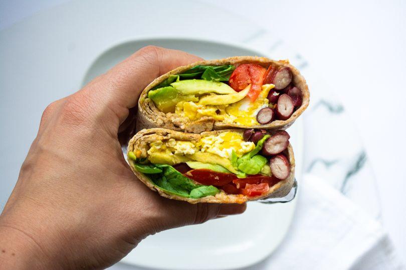 Super rychlé snídaňové burrito
