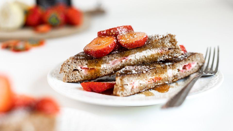 Víkendová snídaně: Francouzské toasty plněné tvarohovým krémem
