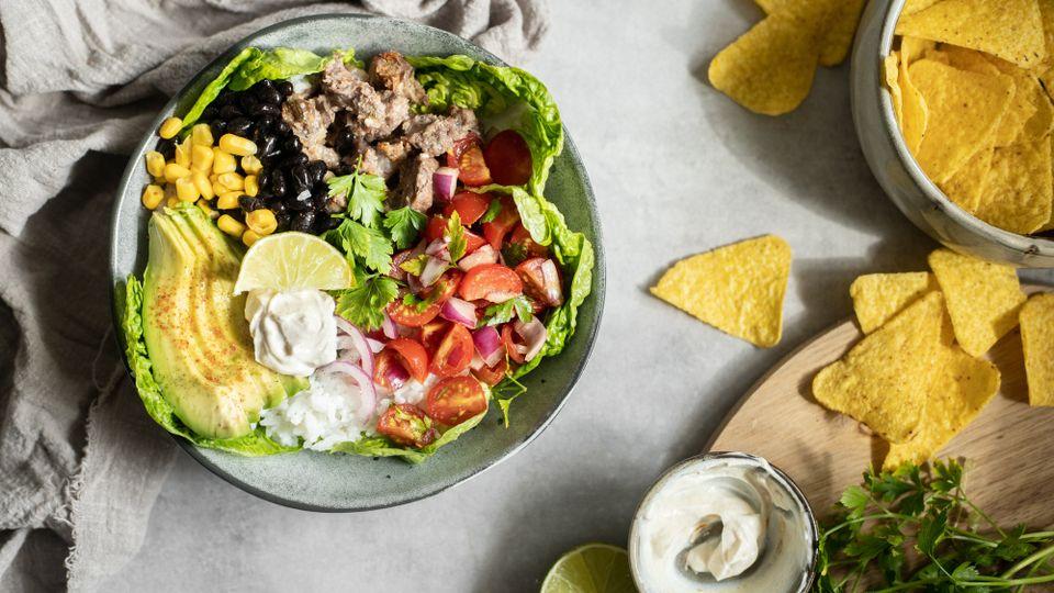Zdravý oběd nebo večeře: s chutí Mexika: Burrito bowl