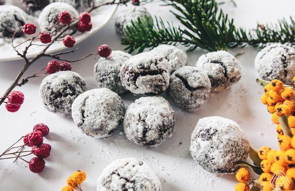 Zasněžené vánoční kuličky pro pravé čokoholiky