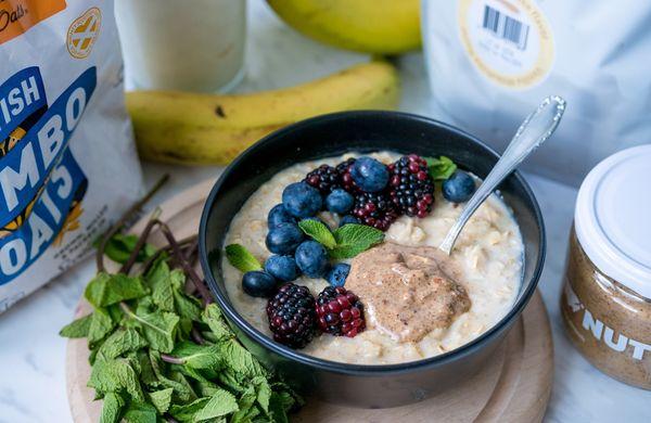 Proteinová ovesná kaše ke snídani, po tréninku nebo po celý den