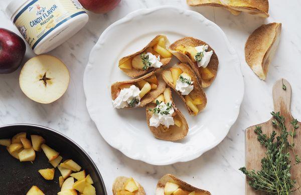 Křupavé jablečné tacos, po kterých se budete olizovat až za ušima