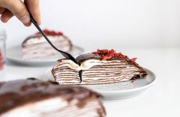 Lahodný palačinkový dort s tvarohovým krémem